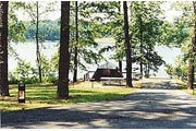 a campsite at Old Highway 41 #3 Campground, Lake Allatoona