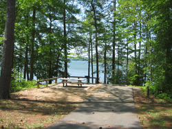 a view of Lake Allatoona and Payne Campground