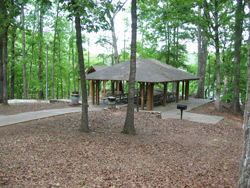A view of the group picnic facility at Cooper Branch #2