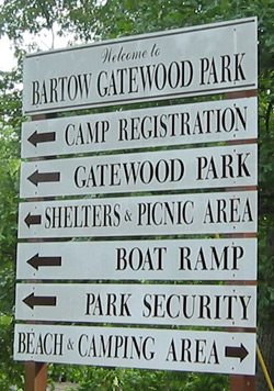 sign in Bartow Gatewood Park
