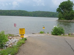 the Fields Landing boat ramp